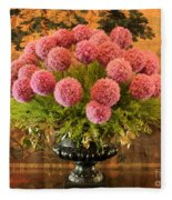 Flower Arrangement Chateau Chenonceau Fleece Blanket