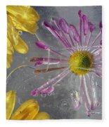 Flower Blossoms Under Ice Fleece Blanket