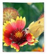 Flower Butterfly Fleece Blanket