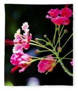 Flower Digital Painting Fleece Blanket