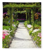 Flower Garden - Digital Painting Fleece Blanket