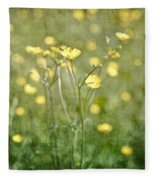 Flower Of A Buttercup In A Sea Of Yellow Flowers Fleece Blanket