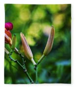 Flower Of Summer Fleece Blanket