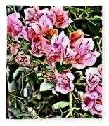 Flower Painting 0003 Fleece Blanket