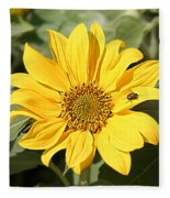 Flower Painting 0010 Fleece Blanket