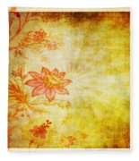 Flower Pattern Fleece Blanket