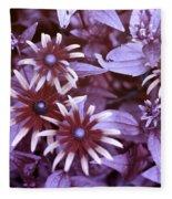 Flower Rudbeckia Fulgida In Uv Light Fleece Blanket