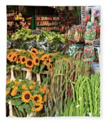 Flower Shop In Amsterdam Fleece Blanket