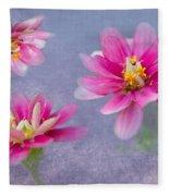 Flower Triplets Fleece Blanket