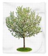 Flowering Apple Tree Fleece Blanket