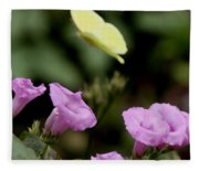 Flowers And Butterfly Fleece Blanket