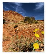 Flowers And Canyons Fleece Blanket