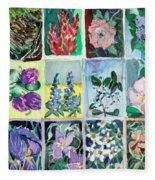 Flowers Flowers Flowers Fleece Blanket
