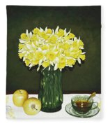 Flowers For Mother Fleece Blanket