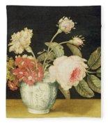 Flowers In A Delft Jar  Fleece Blanket