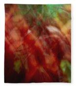 Flowers In The Wind 2 Fleece Blanket