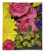Flowers Of Summer Fleece Blanket