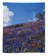 Flowers On A Hill Fleece Blanket