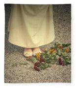 Flowers On The Street Fleece Blanket
