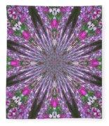 Flowery Snow Flake Fleece Blanket