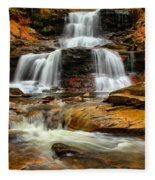Flowing Down The Mountain Fleece Blanket