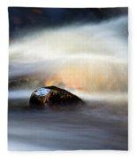 Flowing River II Fleece Blanket