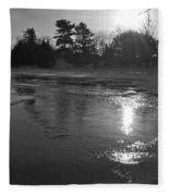 Flowing Water At Sunrise Fleece Blanket