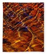 Flowing Water Of The Elwha Fleece Blanket