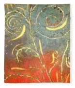 Flowing Wild In The Sun Fleece Blanket