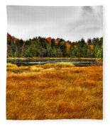 Fly Pond On Rondaxe Road Fleece Blanket