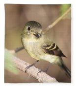 Flycatcher On A Branch Fleece Blanket