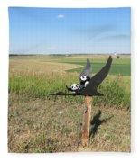 Flying Baby Pandas. North Dakota. Fleece Blanket