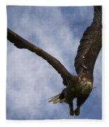 Flying European Sea Eagle I Fleece Blanket