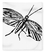 Flying Insect Fleece Blanket