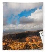 Flying Over Spanish Land IIi Fleece Blanket