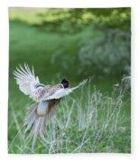 Flying Pheasant Fleece Blanket