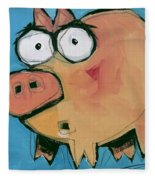 Flying Pig 1 Fleece Blanket