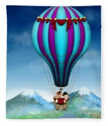 Flying Pig - Balloon - Up Up And Away Fleece Blanket