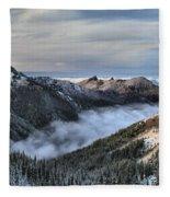 Fog In The Valley Fleece Blanket