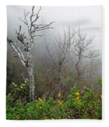 Foggy Day On The Blueridge Fleece Blanket