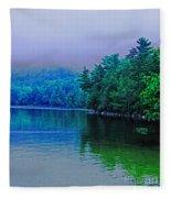 Foggy Mountain Pond Fleece Blanket
