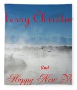 Foggy River Christmas Fleece Blanket