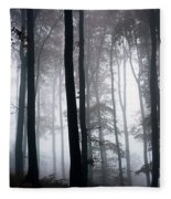 Foggy Woods Ireland Fleece Blanket