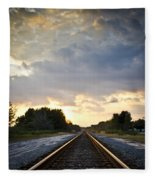 Follow The Tracks Fleece Blanket