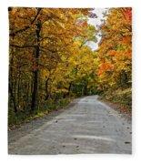 Follow The Yellow Leafed Road Fleece Blanket
