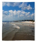 Folly Beach Charleston South Carolina Fleece Blanket