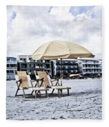 Folly Beach Fleece Blanket
