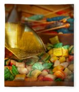 Food - Candy - One Scoop Of Candy Please  Fleece Blanket