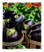 Food - Farm Fresh - Eggplant And Peppers Fleece Blanket