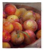 Food - Peaches - Farm Fresh Peaches  Fleece Blanket